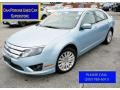 Light Ice Blue Metallic 2010 Ford Fusion Hybrid