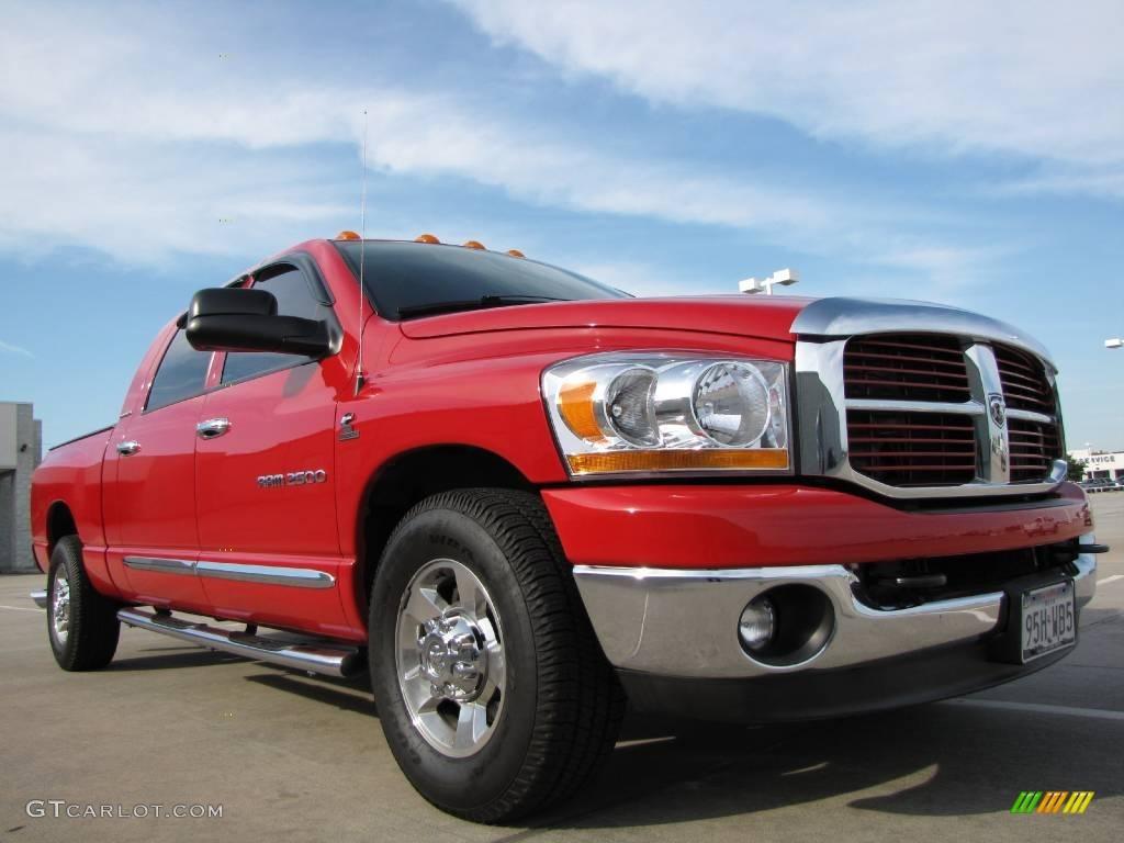 2006 flame red dodge ram 2500 slt mega cab 10247494 car color galleries. Black Bedroom Furniture Sets. Home Design Ideas