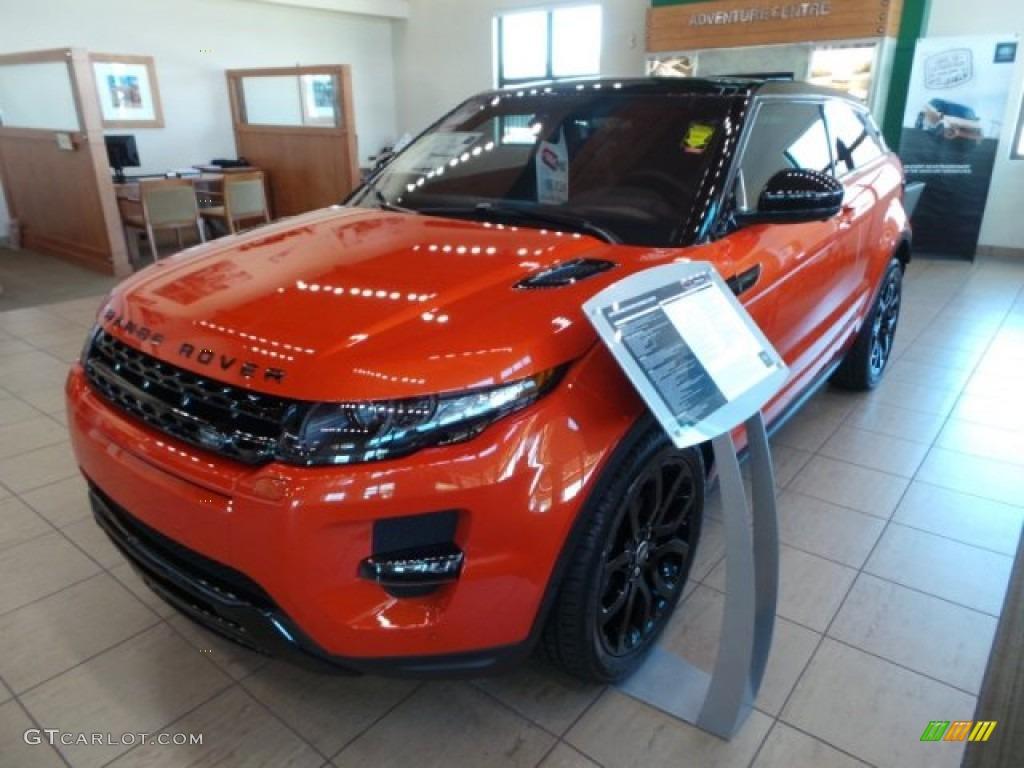 Phoenix Orange 2015 Land Rover Range Rover Evoque Dynamic Exterior Photo 102623161