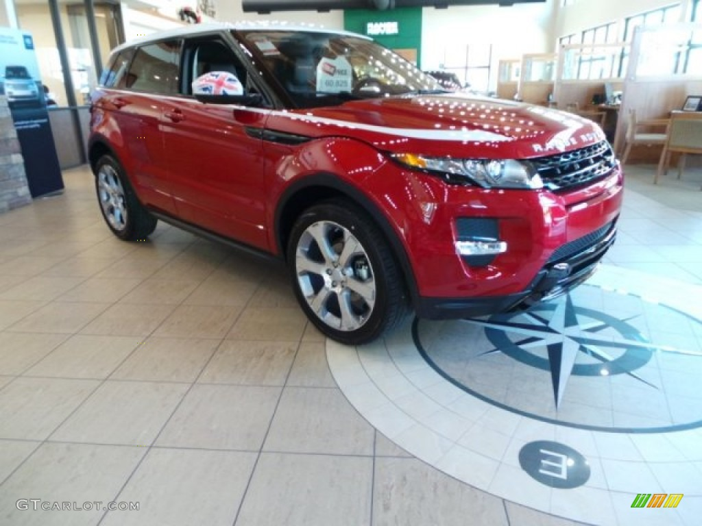 2015 firenze red metallic land rover range rover evoque. Black Bedroom Furniture Sets. Home Design Ideas