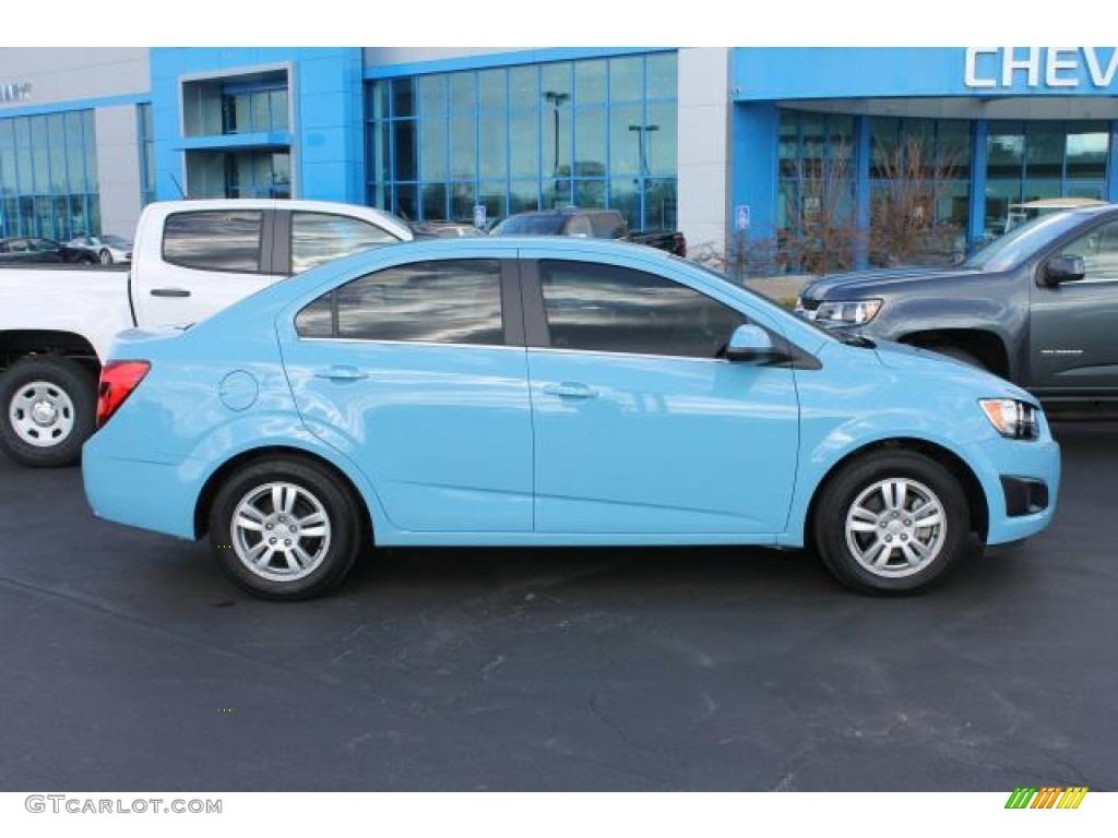 2014 Cool Blue Chevrolet Sonic Lt Sedan 102619878