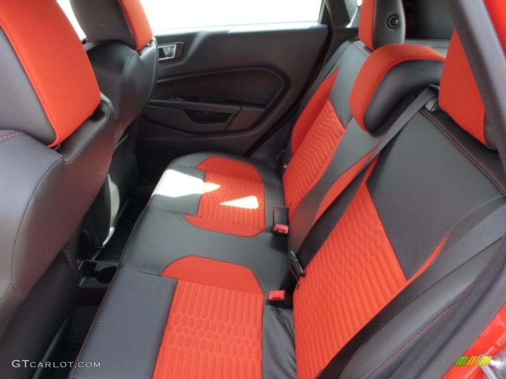 2015 Molten Orange Ford Fiesta St Hatchback 102644416 Photo 9 Recaro