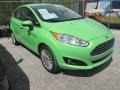 2014 Green Envy Ford Fiesta Titanium Hatchback #102644404