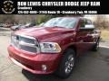 Deep Cherry Red Crystal Pearl 2015 Ram 1500 Laramie Limited Crew Cab 4x4