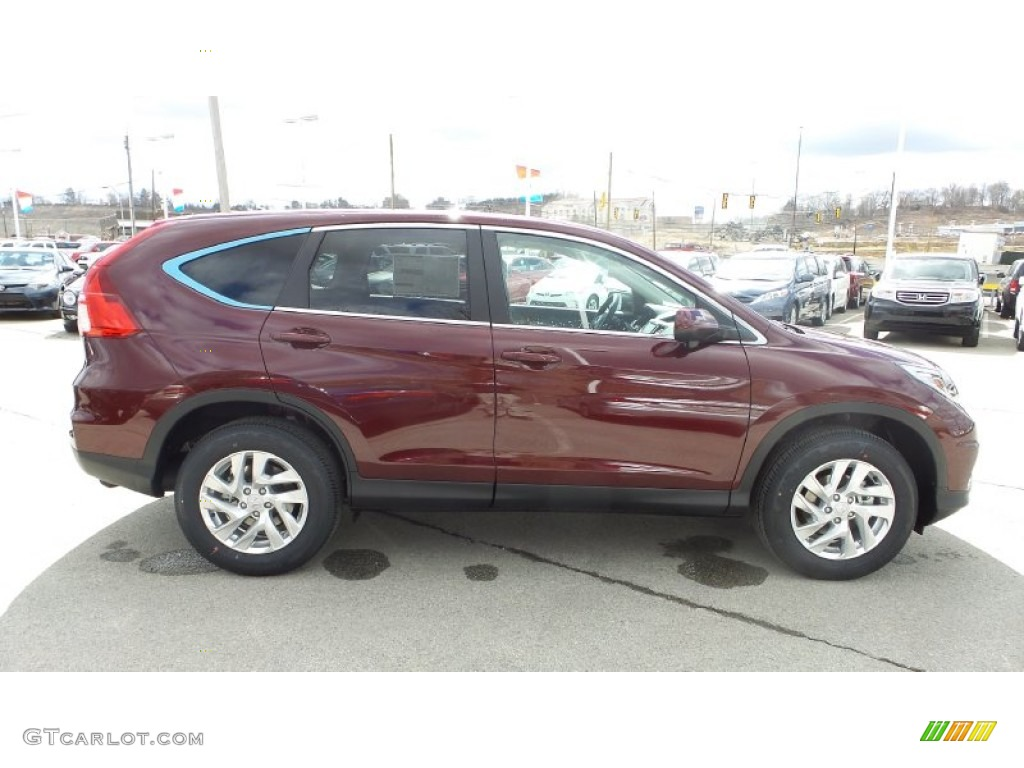 2015 CR-V EX AWD - Basque Red Pearl II / Gray photo #7