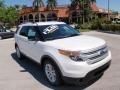 White Platinum 2014 Ford Explorer XLT