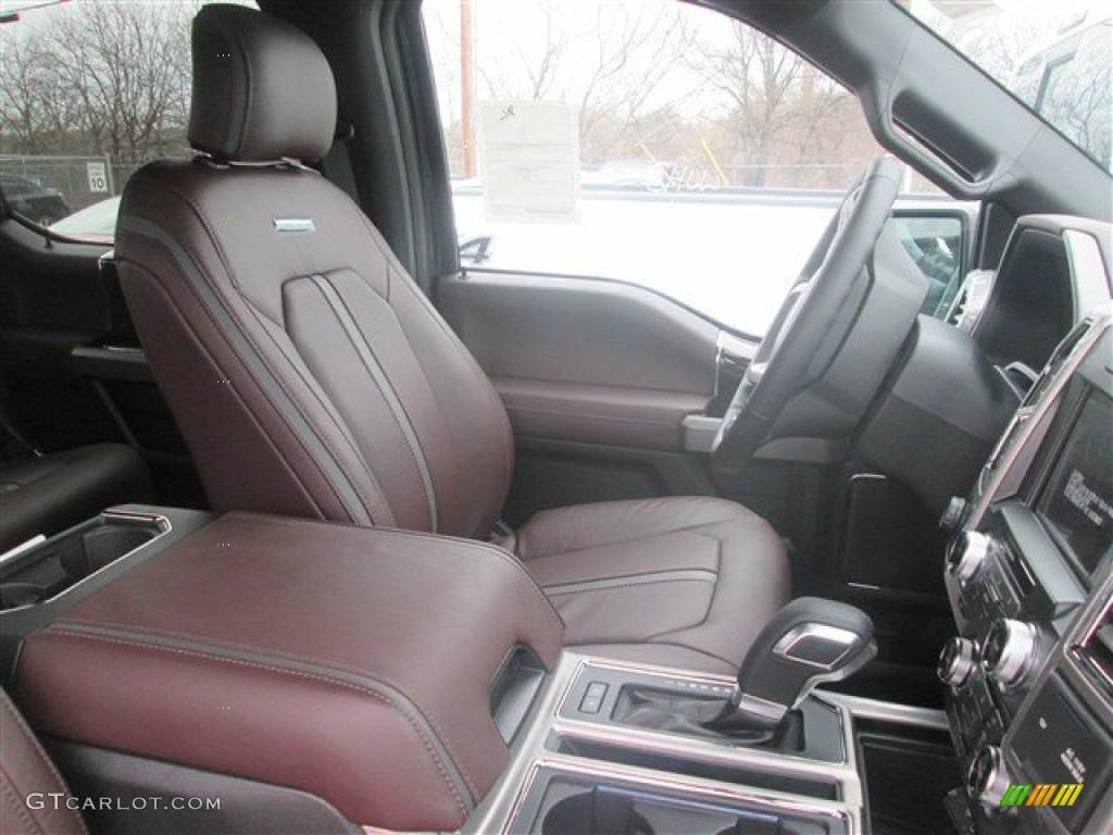 Platinum Brunello Interior 2015 Ford F150 Platinum SuperCrew Photo  #102731854