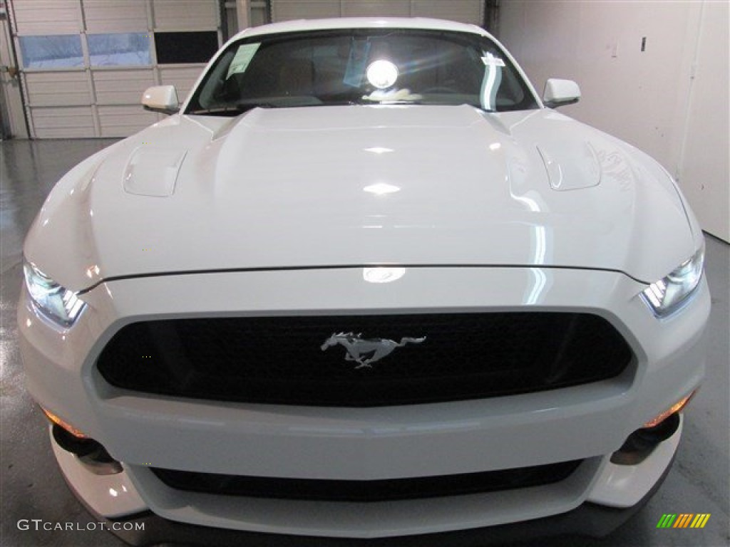 2015 Mustang GT Premium Coupe - Oxford White / Red Line photo #2