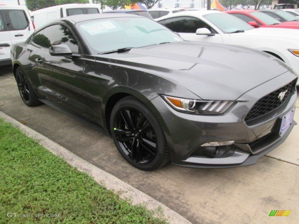 2015 magnetic metallic ford mustang ecoboost premium coupe