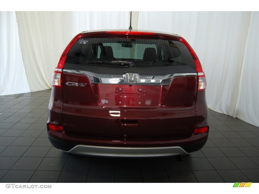 2015 CR-V EX - Basque Red Pearl II / Gray photo #6