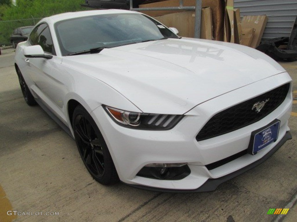 2015 Mustang EcoBoost Premium Coupe - Oxford White / Ebony photo #1