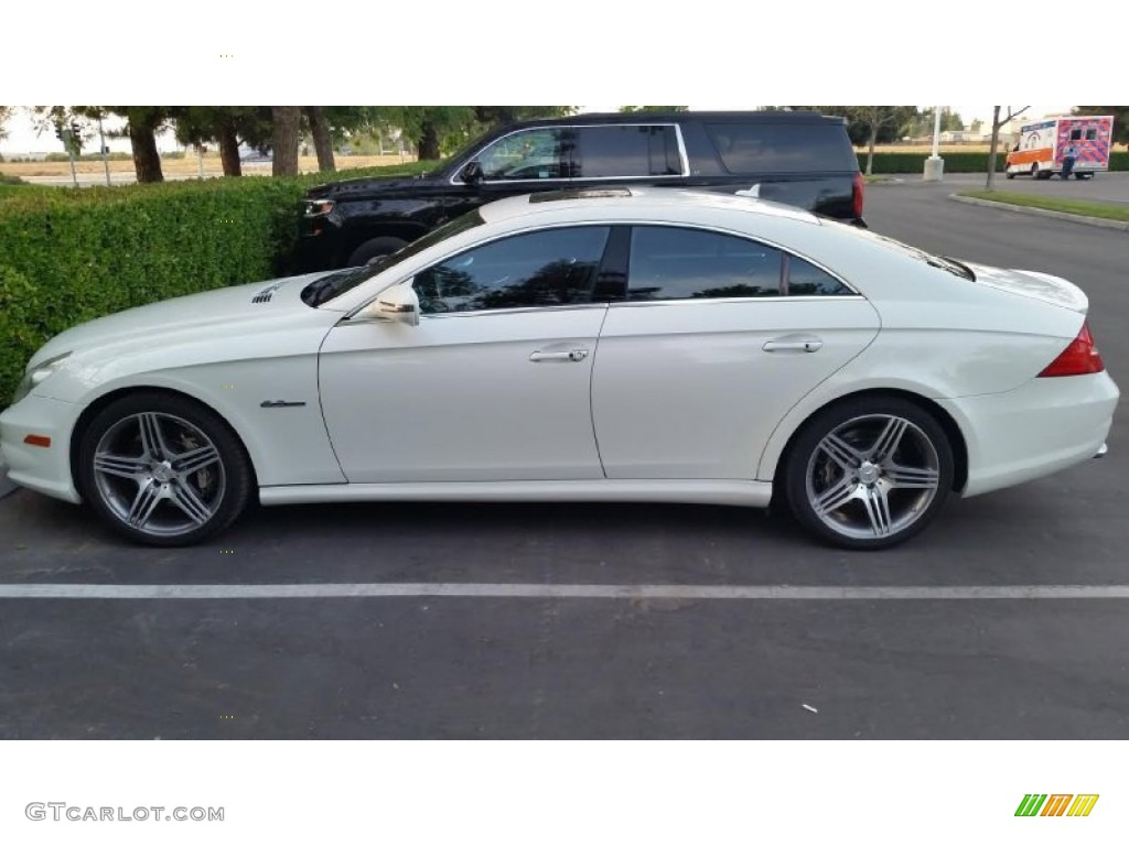 2009 arctic white mercedes benz cls 63 amg 102884921 for Mercedes benz cls 2009