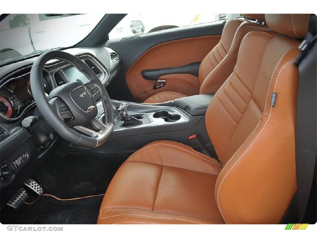 Black Sepia Interior 2015 Dodge Challenger Srt Hellcat Photo 102911443