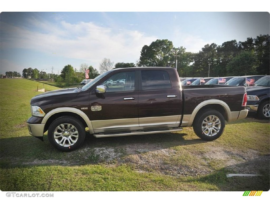 2015 1500 Laramie Long Horn Crew Cab - Western Brown / Canyon Brown/Light Frost photo #2
