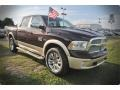 2015 Western Brown Ram 1500 Laramie Long Horn Crew Cab  photo #5
