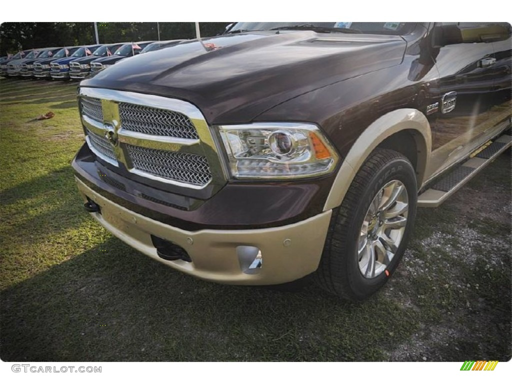 2015 1500 Laramie Long Horn Crew Cab - Western Brown / Canyon Brown/Light Frost photo #6