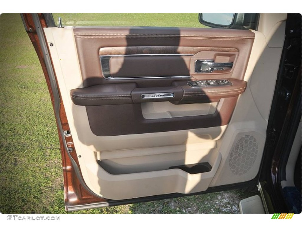 2015 1500 Laramie Long Horn Crew Cab - Western Brown / Canyon Brown/Light Frost photo #7