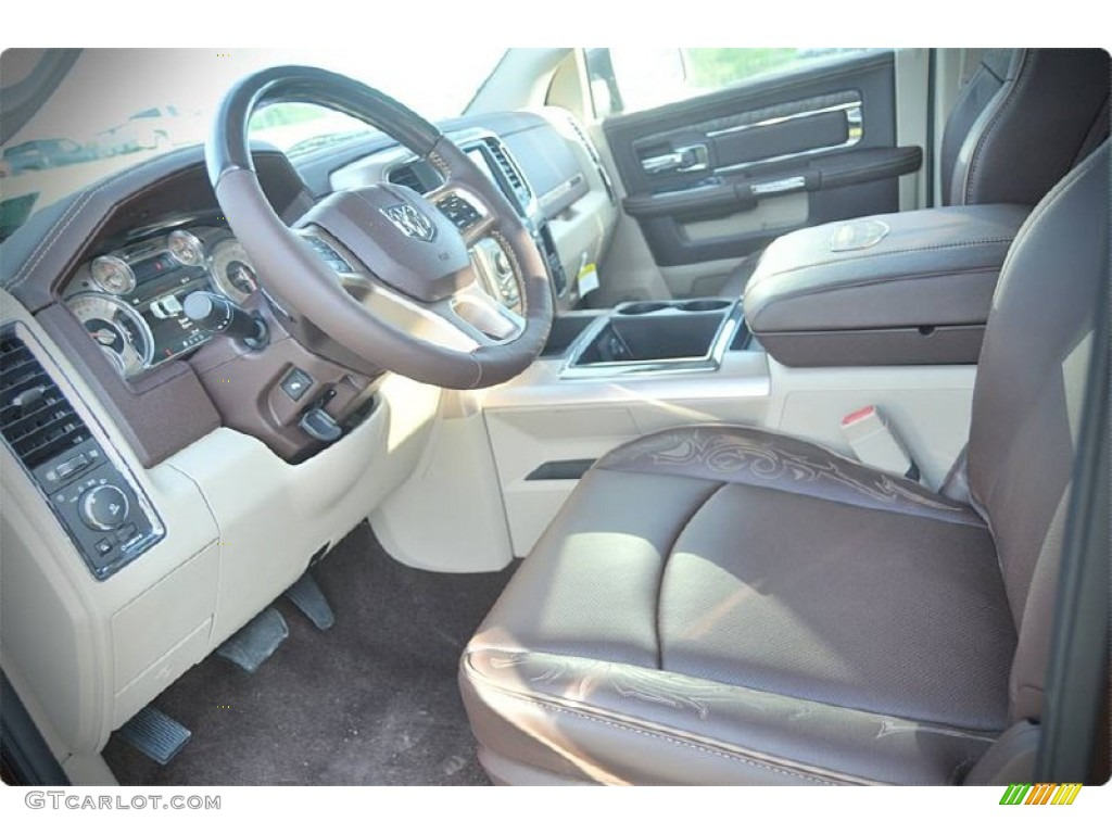 2015 1500 Laramie Long Horn Crew Cab - Western Brown / Canyon Brown/Light Frost photo #9