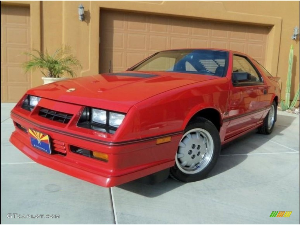 1986 flash red dodge daytona turbo z cs 102924493 car color galleries. Black Bedroom Furniture Sets. Home Design Ideas