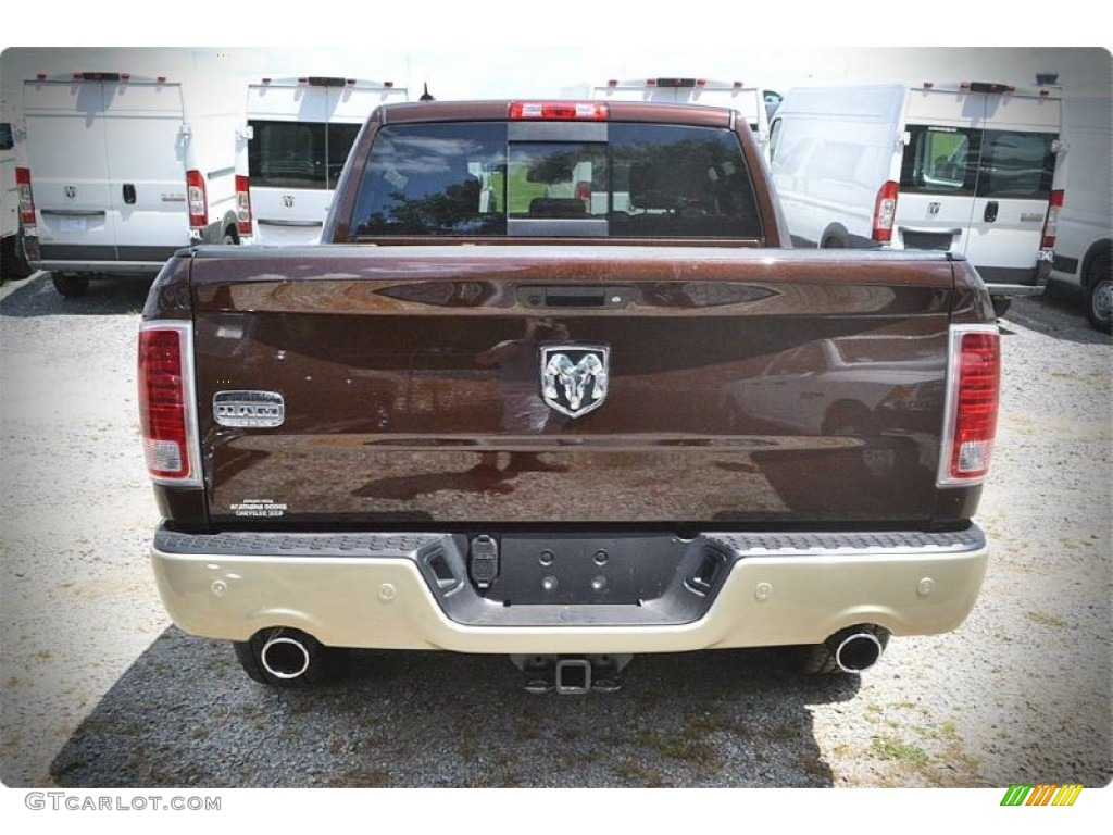 2015 1500 Laramie Long Horn Crew Cab - Western Brown / Canyon Brown/Light Frost photo #3