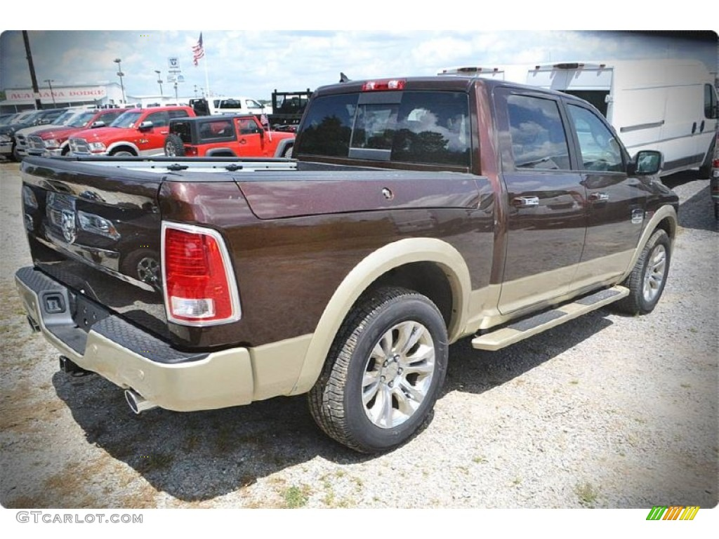 2015 1500 Laramie Long Horn Crew Cab - Western Brown / Canyon Brown/Light Frost photo #4