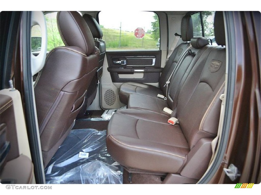 2015 1500 Laramie Long Horn Crew Cab - Western Brown / Canyon Brown/Light Frost photo #11