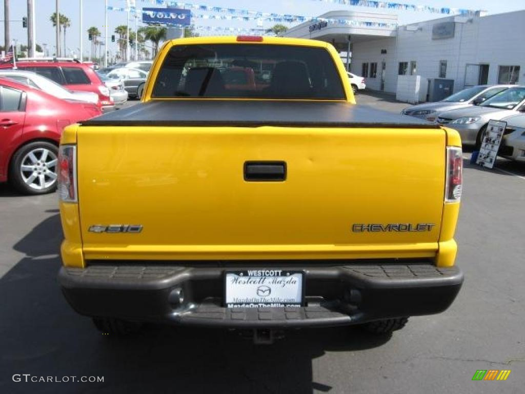 2003 Yellow Chevrolet S10 Zr2 Extended Cab 4x4 1011122 Photo 5