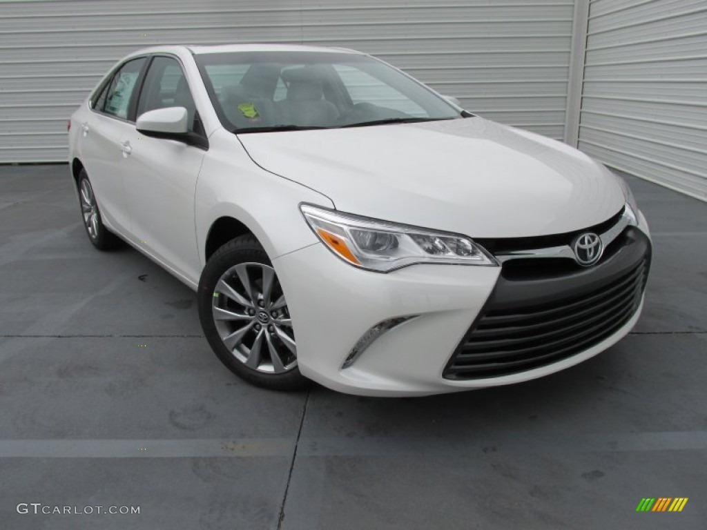 2015 blizzard pearl white toyota camry xle v6 102966346 car color galleries. Black Bedroom Furniture Sets. Home Design Ideas