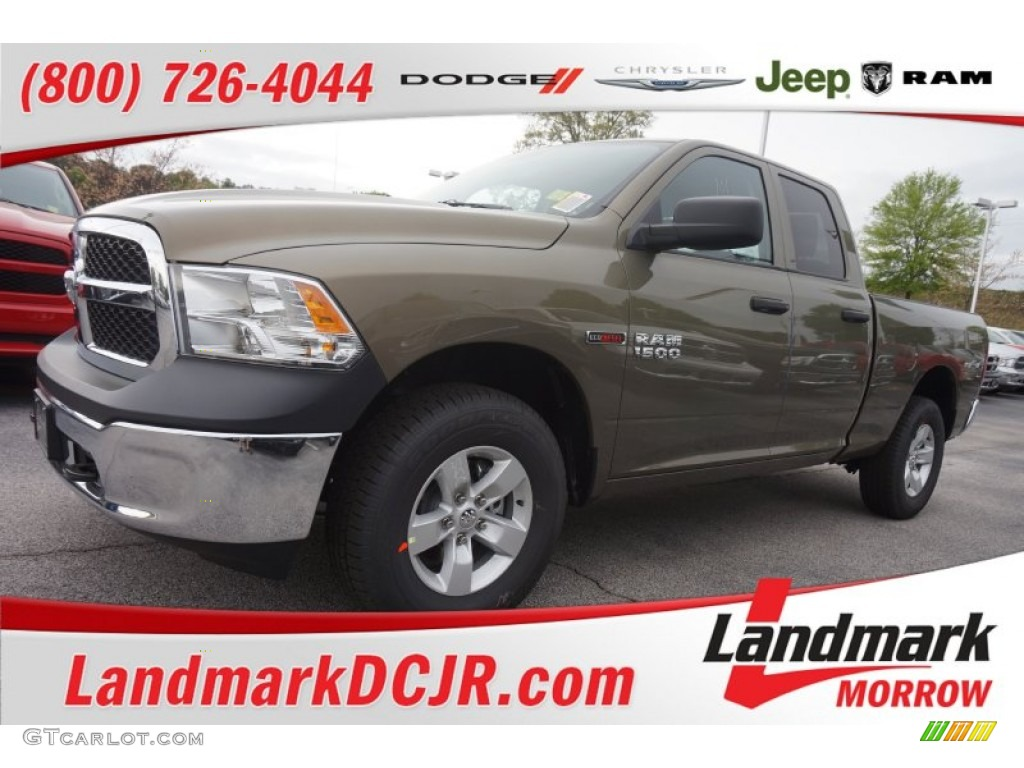 2015 1500 Tradesman Quad Cab 4x4 - Prairie Pearl / Black/Diesel Gray photo #1