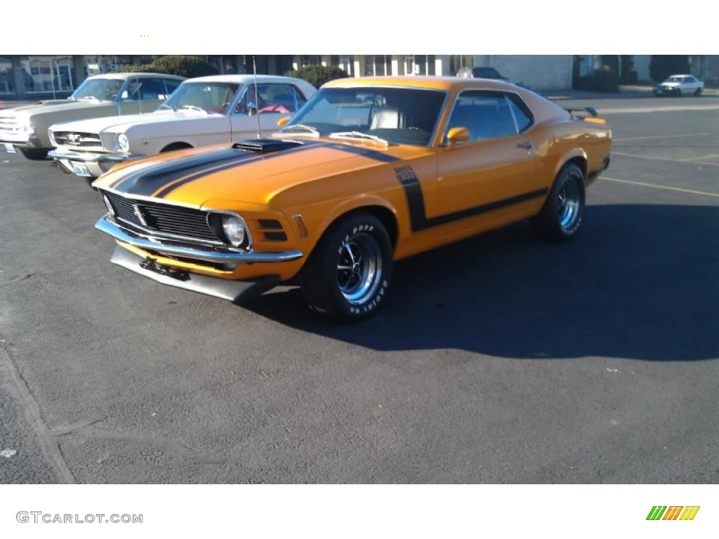 1970 Mustang BOSS 302 - Grabber Orange / Black photo #1
