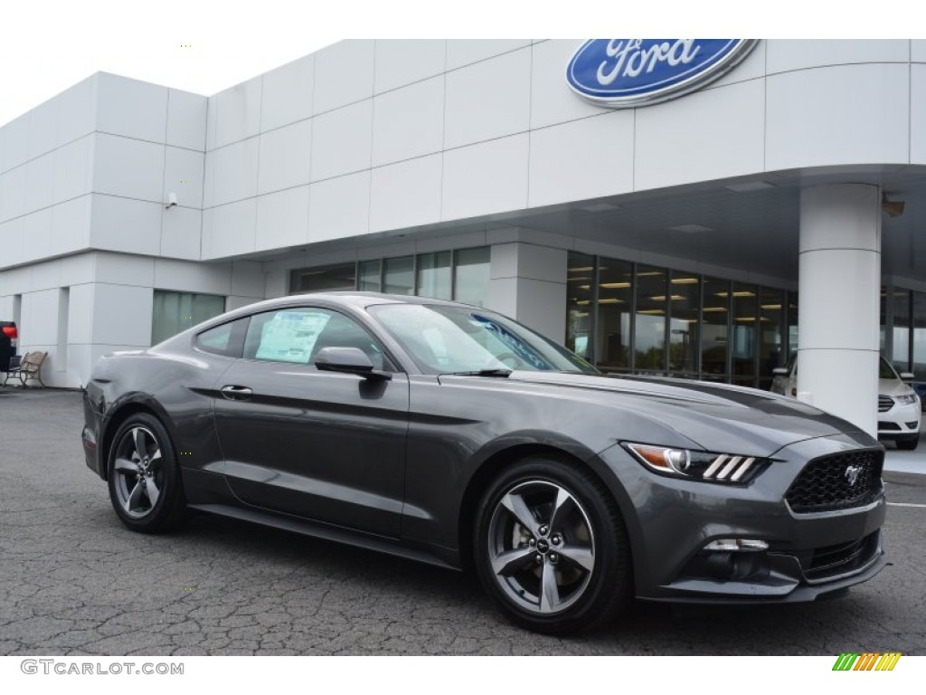 2015 magnetic metallic ford mustang v6 coupe 103050344 gtcarlot