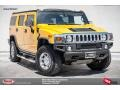 2005 Yellow Hummer H2 SUV  photo #1