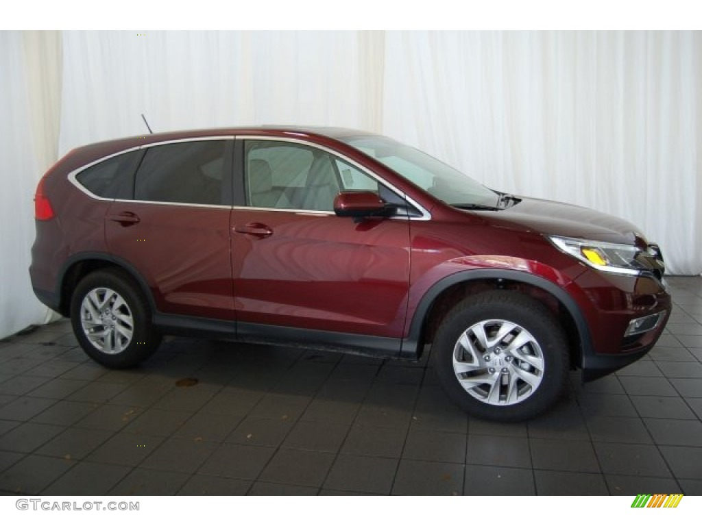 2015 CR-V EX - Basque Red Pearl II / Gray photo #5