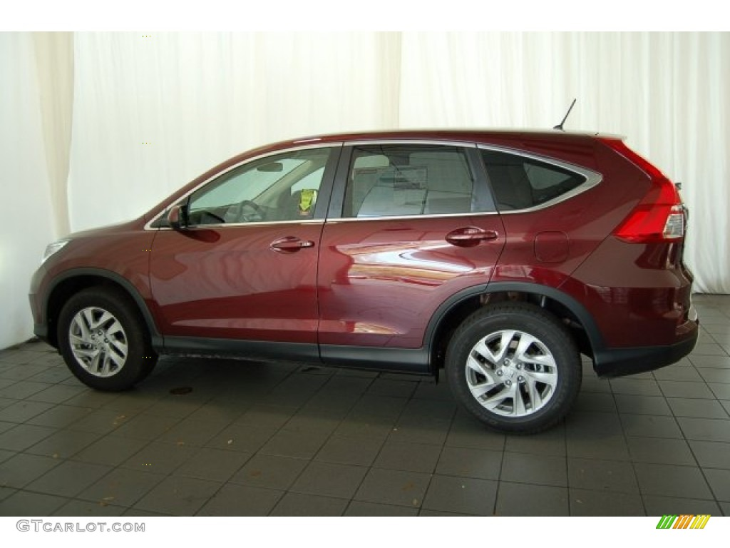 2015 CR-V EX - Basque Red Pearl II / Gray photo #8