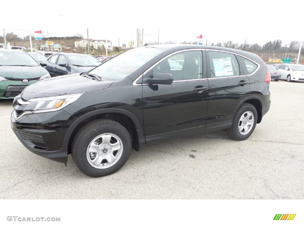 2015 CR-V LX AWD - Crystal Black Pearl / Black photo #2