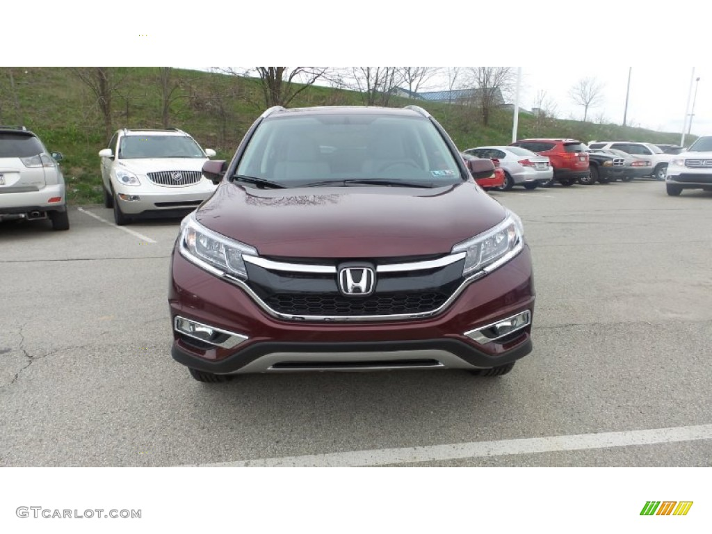 2015 CR-V EX-L - Basque Red Pearl II / Gray photo #1