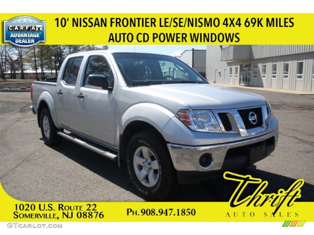 2010 radiant silver metallic nissan frontier se crew cab. Black Bedroom Furniture Sets. Home Design Ideas