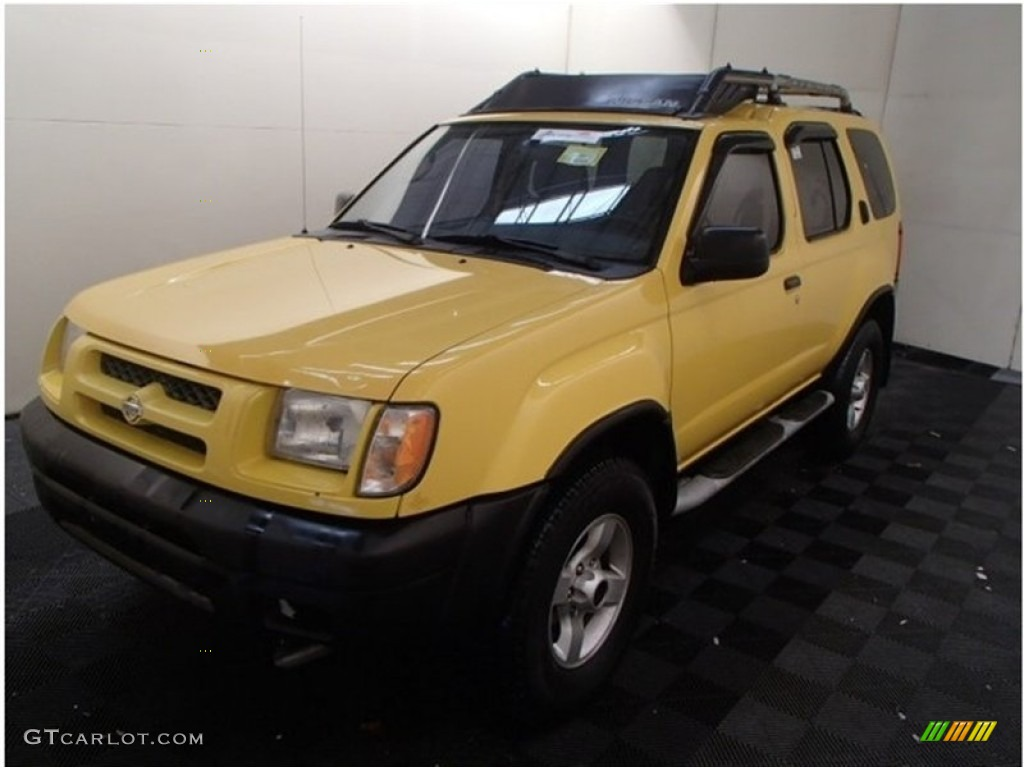 2000 solar yellow nissan xterra se v6 4x4 103143508. Black Bedroom Furniture Sets. Home Design Ideas