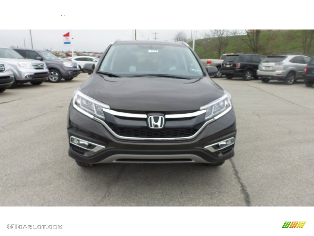2015 CR-V EX-L AWD - Kona Coffee Metallic / Black photo #1