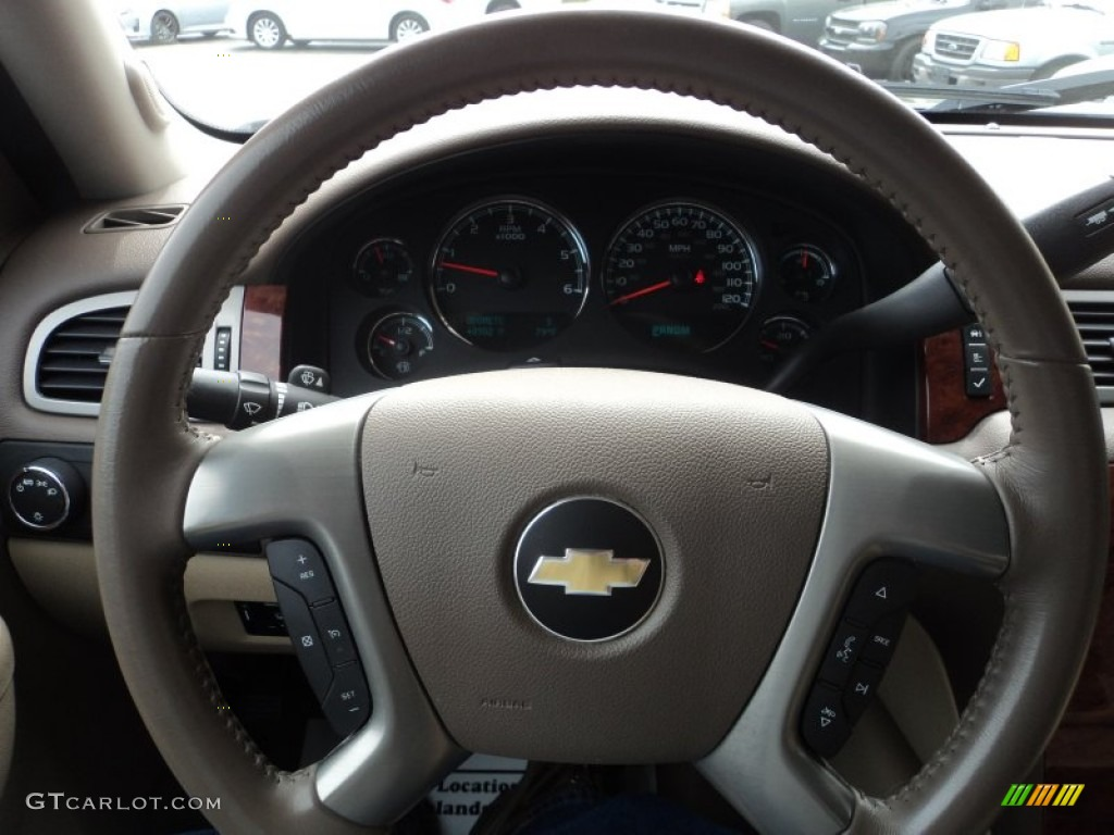 2012 Silverado 1500 LTZ Crew Cab 4x4 - Mocha Steel Metallic / Light Cashmere/Dark Cashmere photo #11
