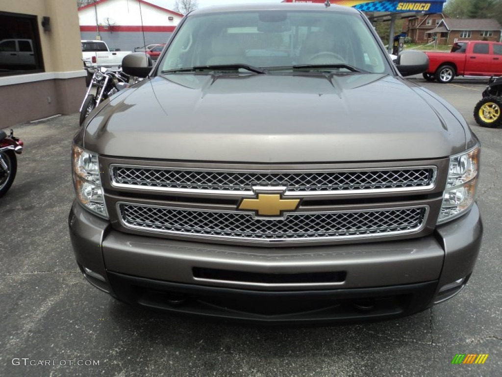 2012 Silverado 1500 LTZ Crew Cab 4x4 - Mocha Steel Metallic / Light Cashmere/Dark Cashmere photo #26