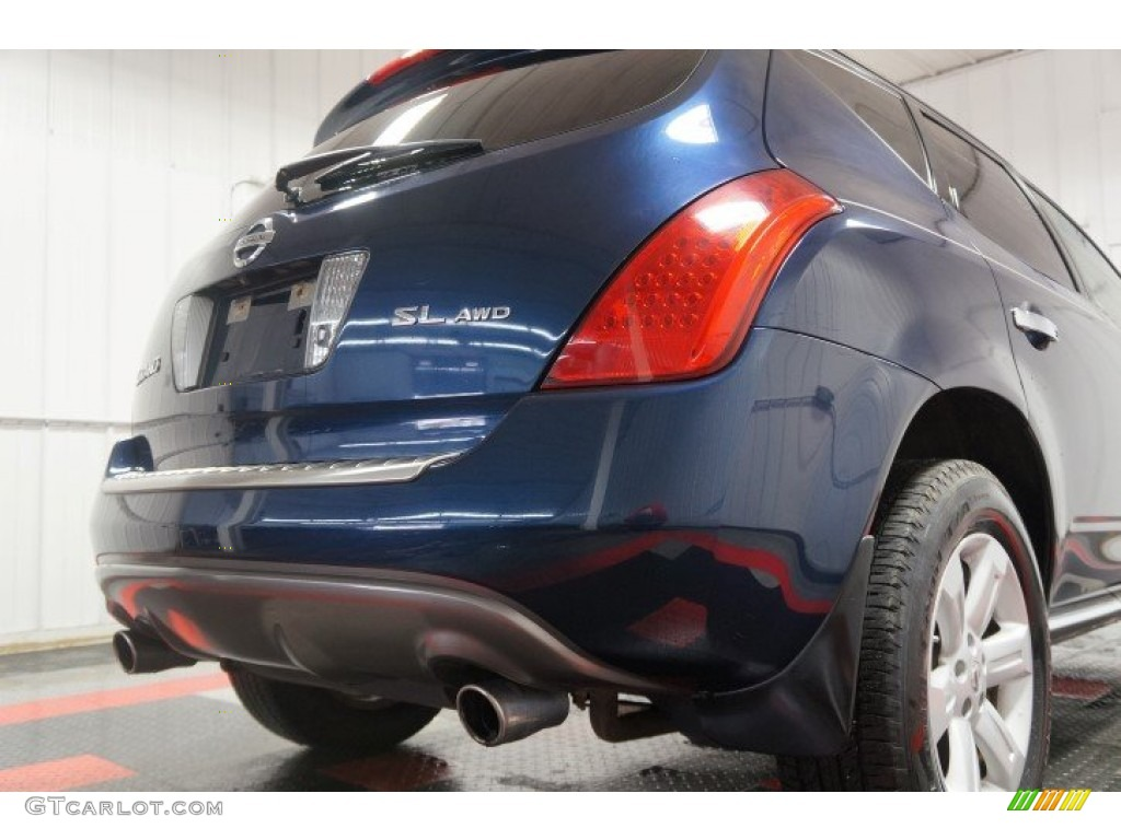 2007 Murano SL AWD - Midnight Blue Pearl / Cafe Latte photo #53