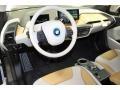 2015 BMW i3 Giga Cassia Natural Leather & Carum Spice Grey Wool Cloth Interior Prime Interior Photo