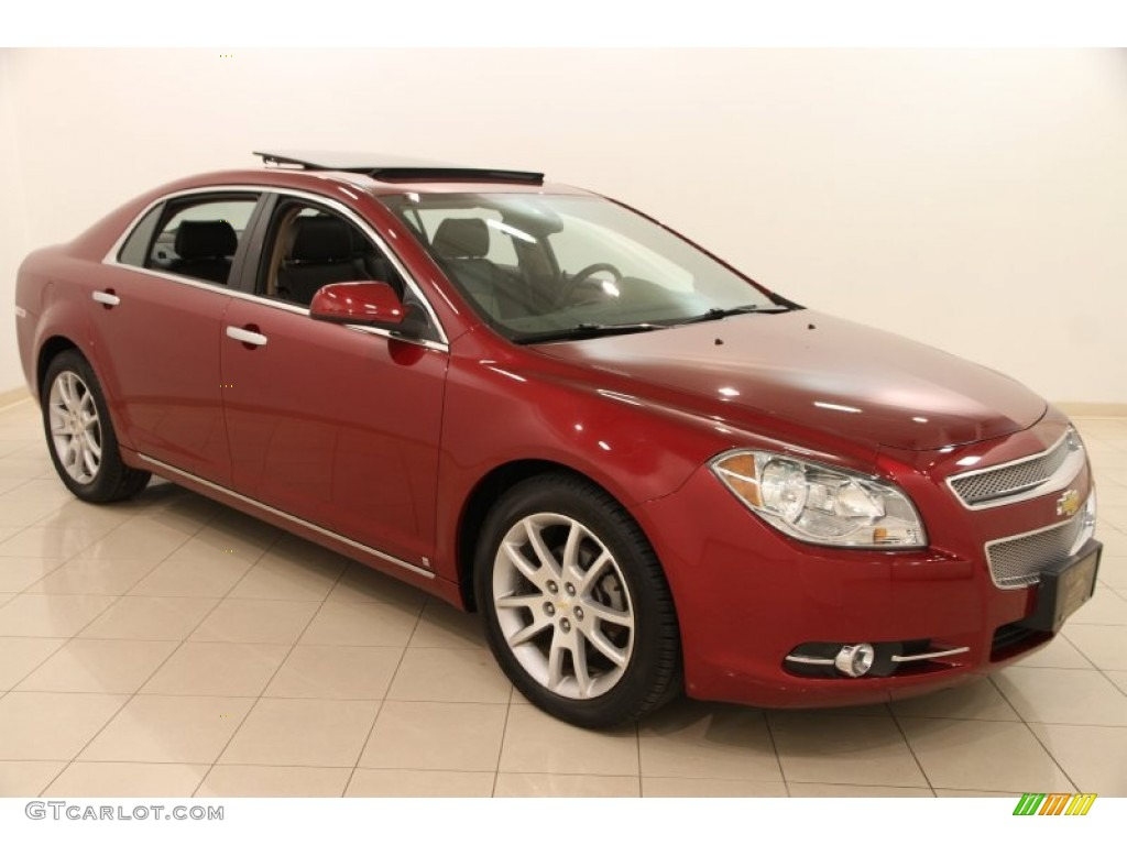 2009 red jewel chevrolet malibu ltz sedan 103241200 car color galleries. Black Bedroom Furniture Sets. Home Design Ideas
