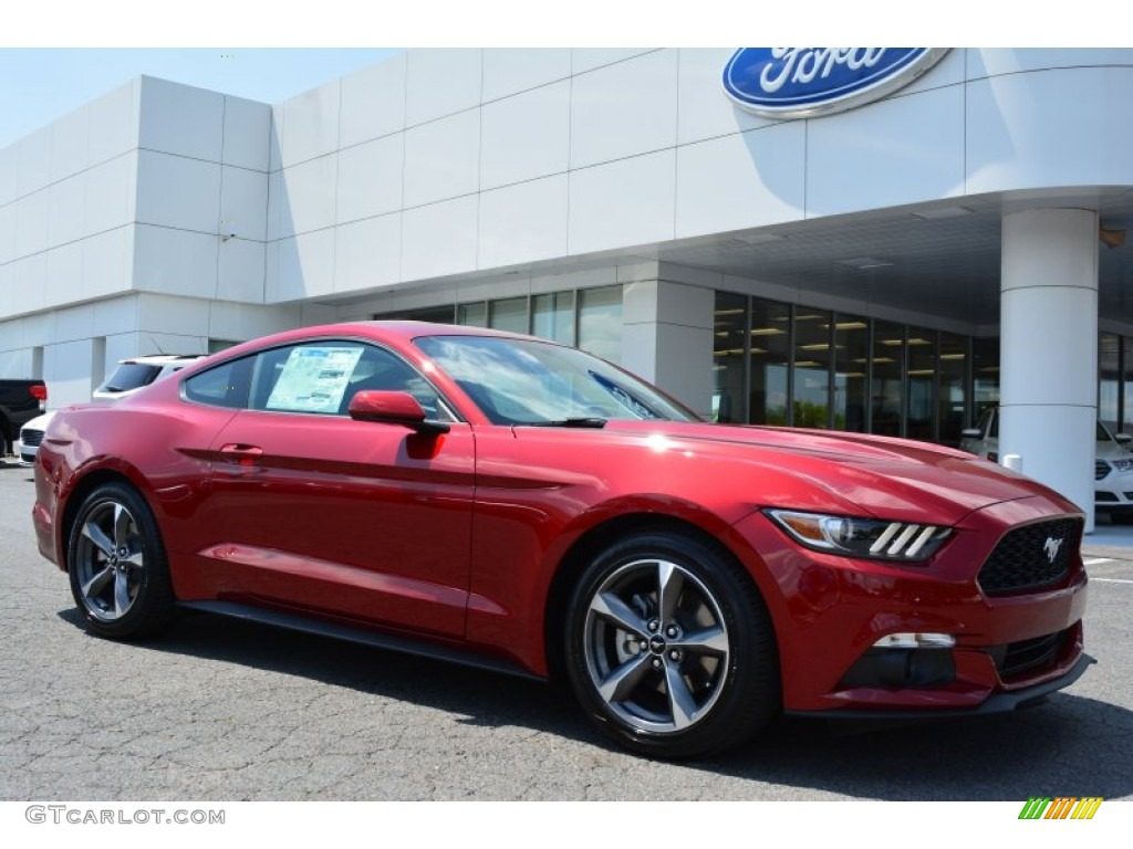 Ruby Red Metallic Ford Mustang