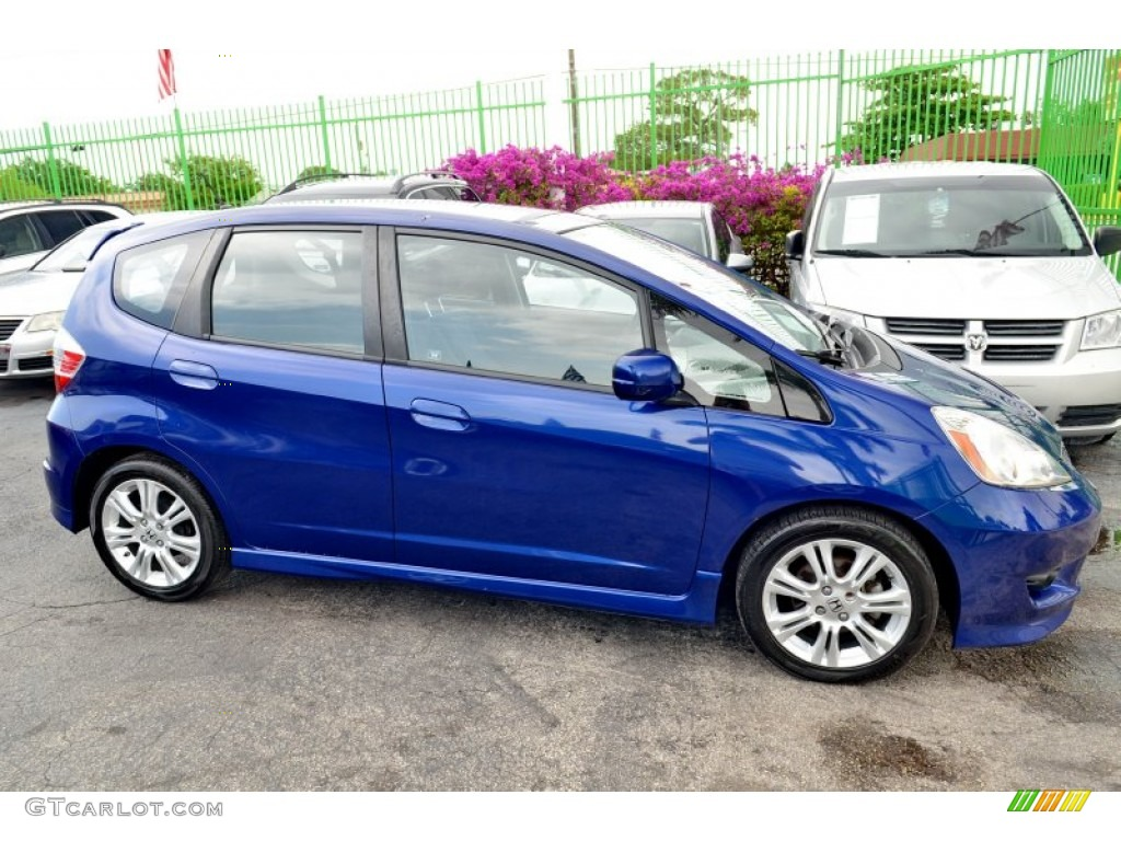 blue sensation pearl 2009 honda fit sport exterior photo