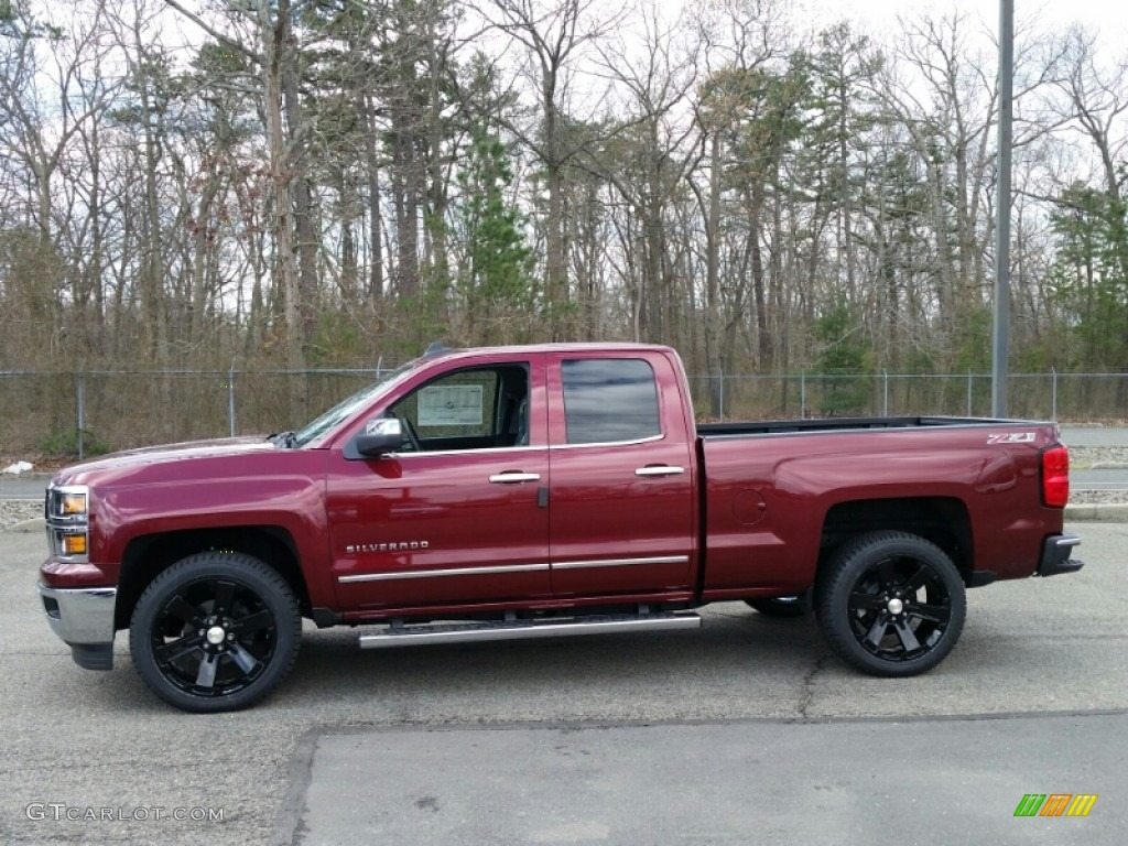 2015 deep ruby metallic chevrolet silverado 1500 ltz z71 double cab 4x4 103361836 photo 3. Black Bedroom Furniture Sets. Home Design Ideas
