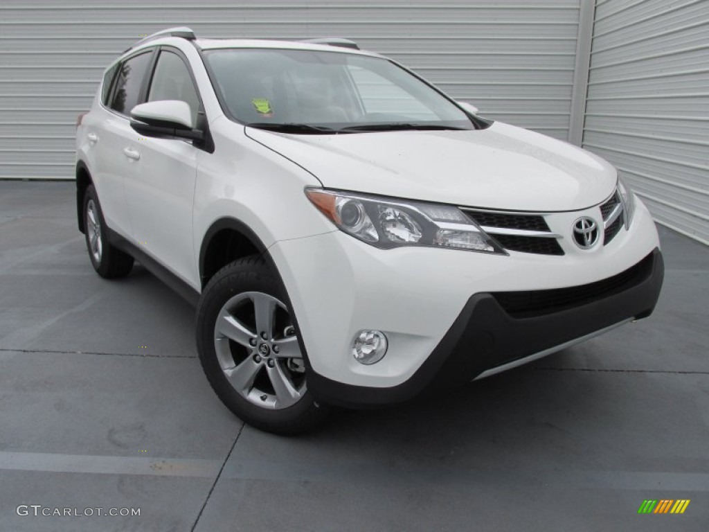 2015 super white toyota rav4 xle 103398479 car color galleries. Black Bedroom Furniture Sets. Home Design Ideas