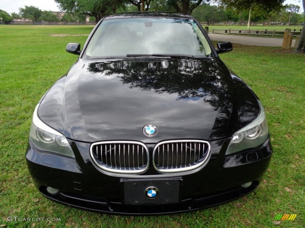 jet black 2004 bmw 5 series 545i sedan exterior photo. Black Bedroom Furniture Sets. Home Design Ideas