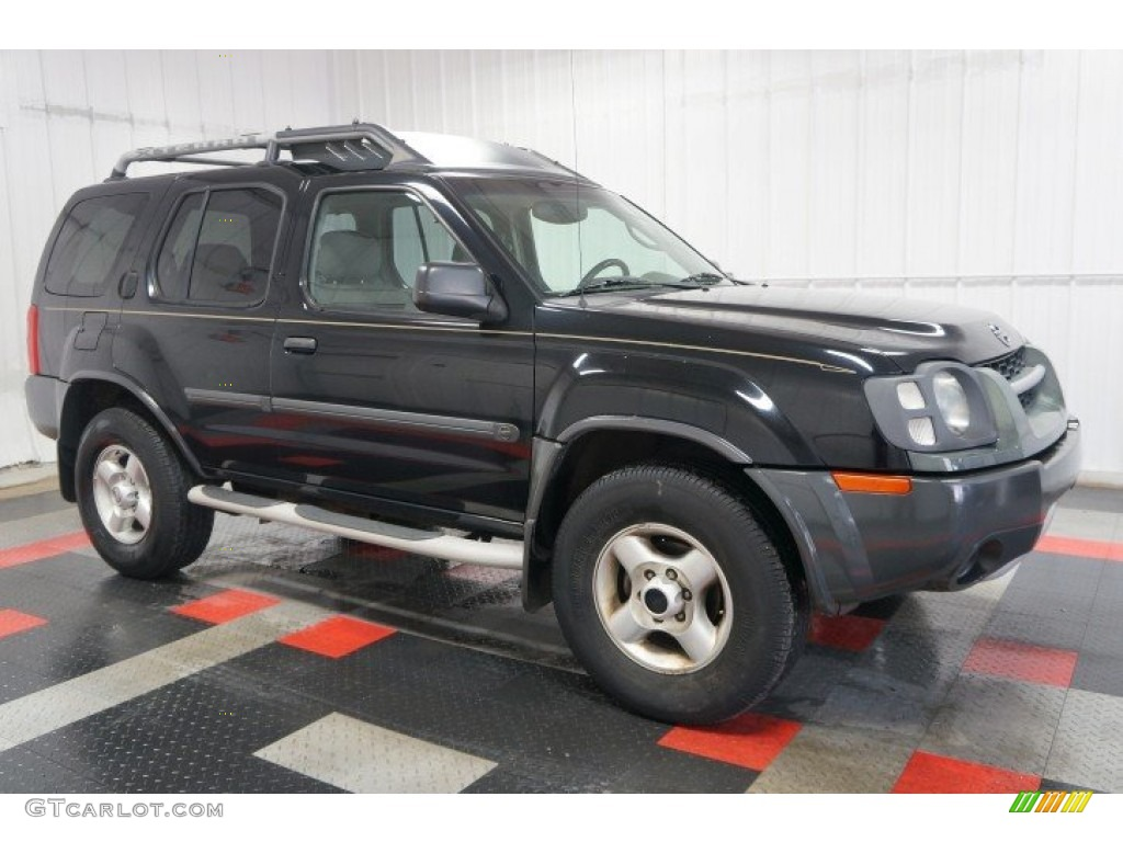 super black 2003 nissan xterra xe v6 4x4 exterior photo. Black Bedroom Furniture Sets. Home Design Ideas